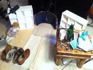 """Foley Recording Set-Up für """"Die Lottokönige"""""""